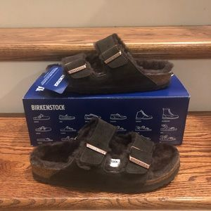 Birkenstock Arizona Fur Mocca 7 Narrow new